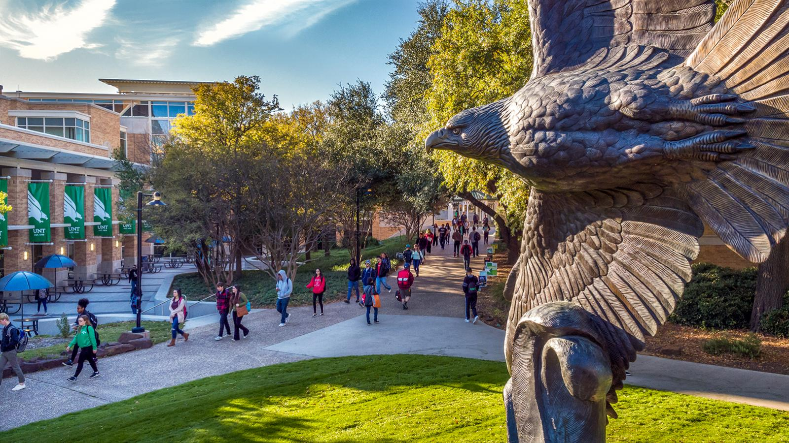 University of North Texas Eagle statue
